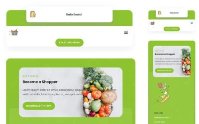 Download a FREE Header & Footer for Divi's Grocery Delivery Layout Pack