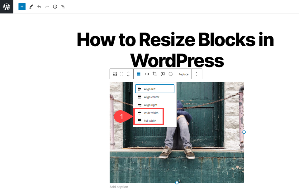 How to Resize Blocks in WordPress